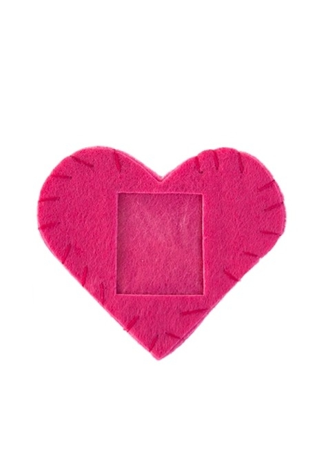 Сувенир Нежное сердцеСердца на 14 февраля<br>7*8см, с фоторамкой, войлок<br>