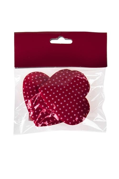 Набор украшений декор. Зарождение любвиСувениры и упаковка<br>4-предм., Выс=6см, сатин, красный, на липучке, в блистере<br>