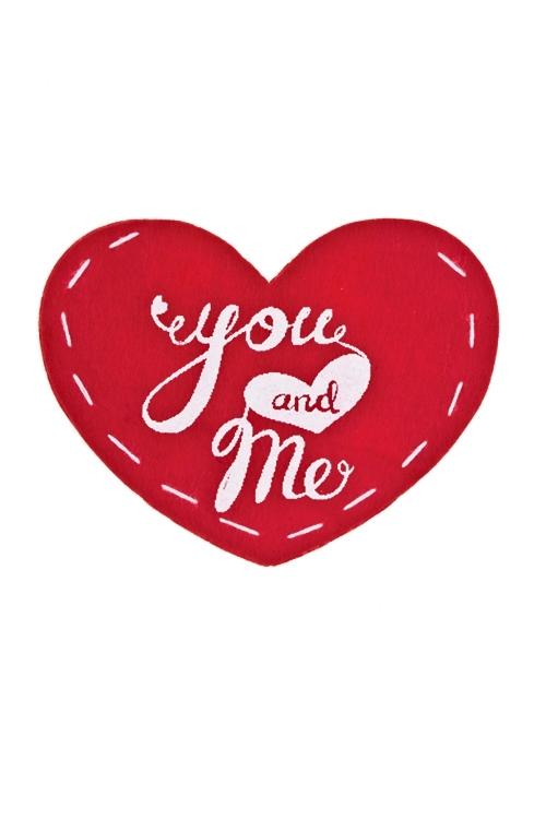 Конверт декоративный Навсегда вместеОткрытки про Любовь<br>12*9.5см, войлок, красный (для валентинки)<br>