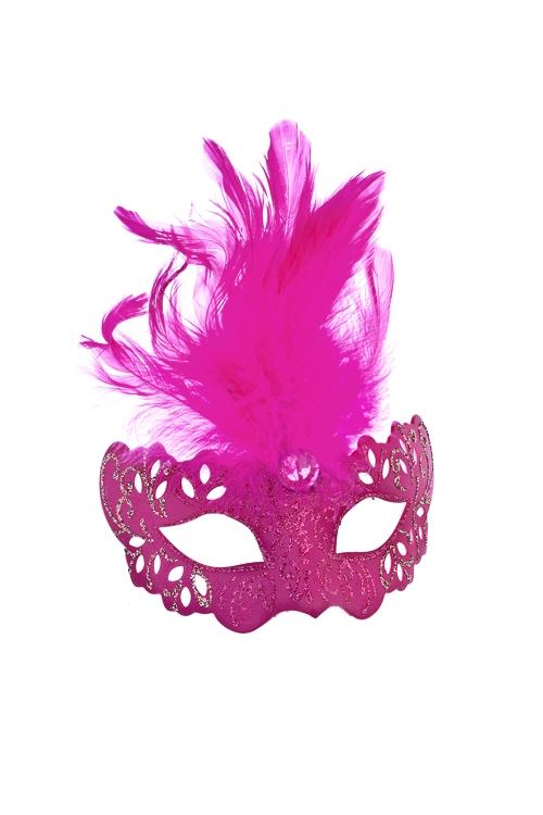 Украшение декоративное ИзящностьРазвлечения и вечеринки<br>Дл=10см, пласт., перо, малин., подвесное<br>