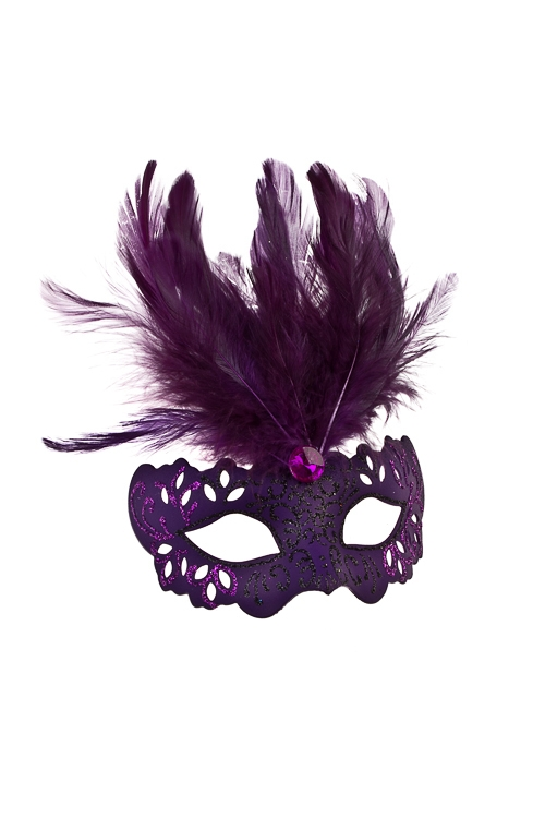 Украшение декоративное ИзящностьРазвлечения и вечеринки<br>Дл=10см, пласт., перо, темно-фиолет., подвесное<br>