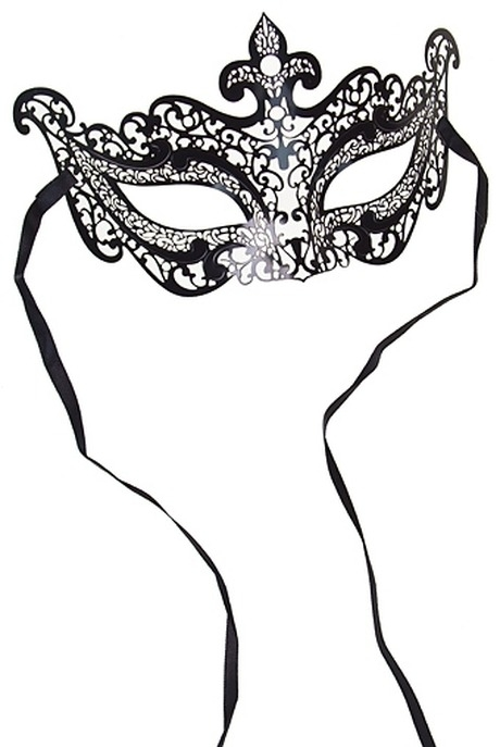 Маска карнавальная для взрослых ИзяществоМаски<br>металл черная<br>