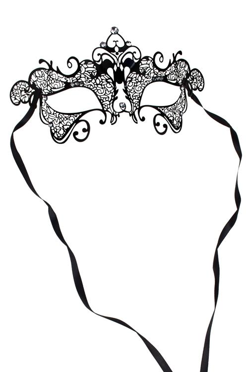 Маска карнавальная для взрослых Прекрасная загадкаРазвлечения и вечеринки<br>Металл, черная<br>