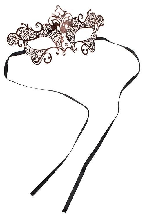 Маска карнавальная для взрослых Прекрасная загадкаРазвлечения и вечеринки<br>Металл, черно-медная<br>