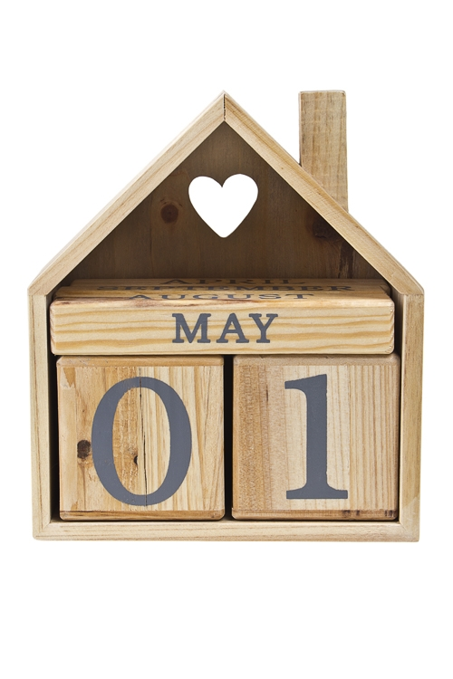Календарь настольный Любимый домУчеба и работа<br>18*8*20см, дерево<br>
