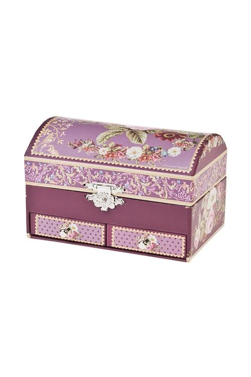 Шкатулка для ювелирных украшений РоскошьШкатулки и наборы по уходу<br>13.8*9*9 см, картон<br>