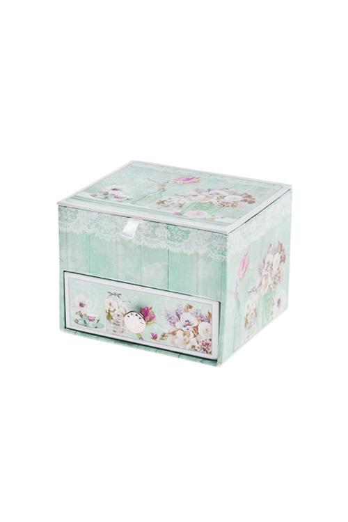 Шкатулка для ювелирных украшений Прекрасный ПровансШкатулки для украшений<br>11*9.5*8см, картон<br>