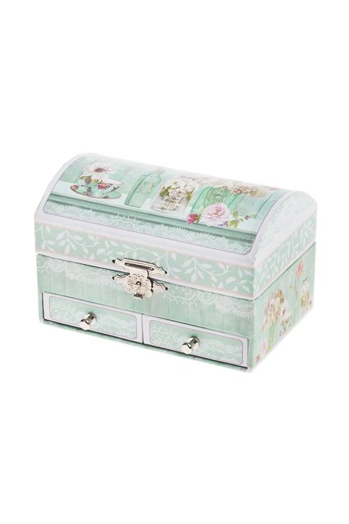 Шкатулка для ювелирных украшений Прекрасный ПровансШкатулки и наборы по уходу<br>13.8*9*9см, картон<br>
