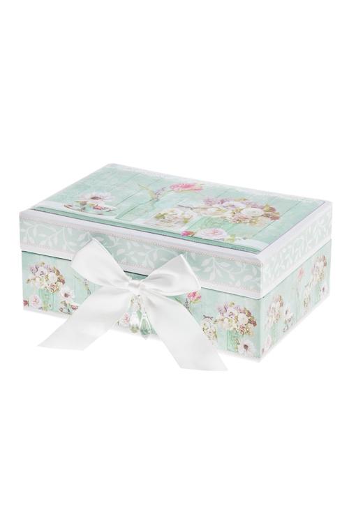 Шкатулка для ювелирных украшений Прекрасный ПровансШкатулки и наборы по уходу<br>18*12*7.5см, картон<br>
