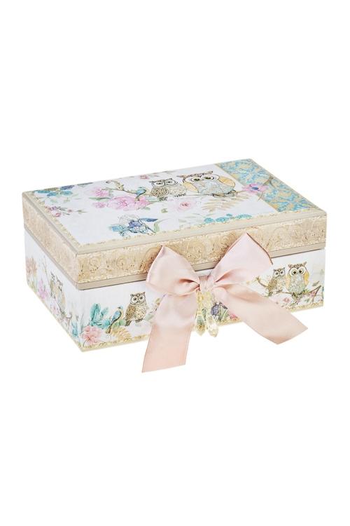 Шкатулка для ювелирных украшений СовятаШкатулки для украшений<br>18*12*7.5см, картон<br>