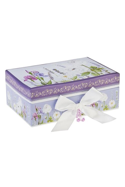 Шкатулка для ювелирных украшений Аромат лавандыШкатулки и наборы по уходу<br>18*12*7.5см, картон<br>