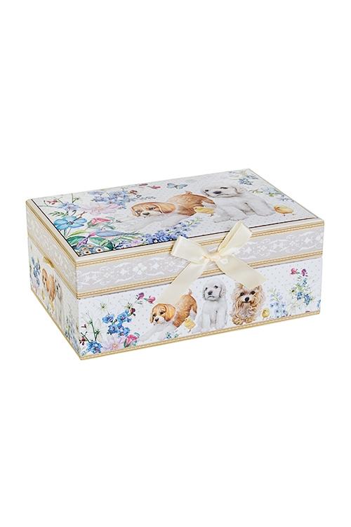 Шкатулка для ювелирных украшений Верные друзьяШкатулки и наборы по уходу<br>18*12*7.5см, картон<br>