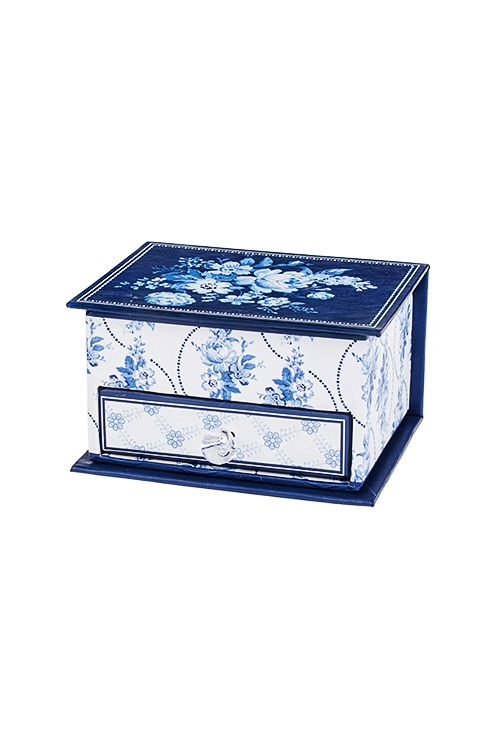Шкатулка для ювелирных украшений Волшебные цветыШкатулки и наборы по уходу<br>10*7.5*5.5см, картон<br>