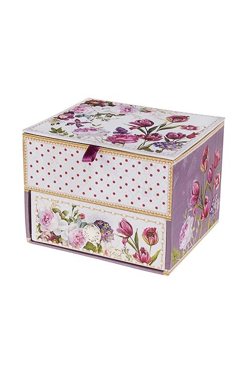 Шкатулка для ювелирных украшений Прекрасный садШкатулки и наборы по уходу<br>11*9.5*8см, картон<br>
