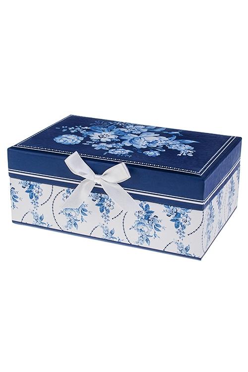 Шкатулка для ювелирных украшений Волшебные цветыШкатулки и наборы по уходу<br>18*12*7.5см, картон<br>
