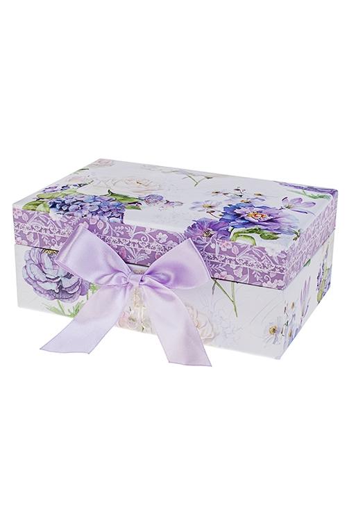 Шкатулка для ювелирных украшений Сиреневый райШкатулки и наборы по уходу<br>18*12*7.5см, картон<br>