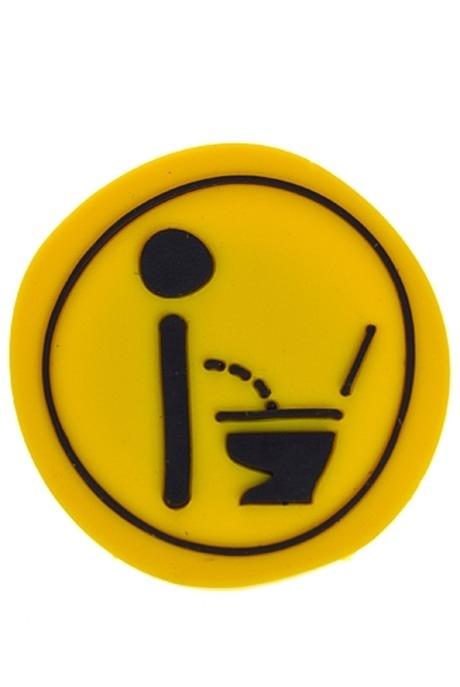 Держатель-магнит М-ЖБрелоки и магниты на 23 февраля<br>Полирезин, черно-желтый<br>