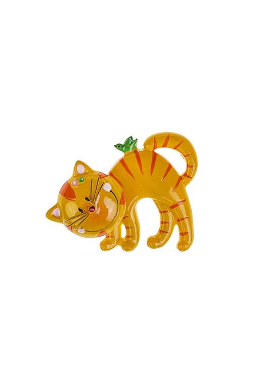 Держатель-магнит РыжикСувениры и упаковка<br>7*6см, полирезин, желто-оранж.<br>