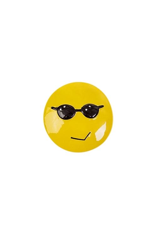 Держатель-магнит СмайлСувениры и упаковка<br>Д=4см, полирезин, желтый (3 вида)<br>