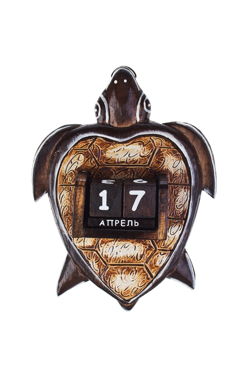 Календарь настенный ЧерепахаИнтерьер<br>16*4*20см, дерев.<br>