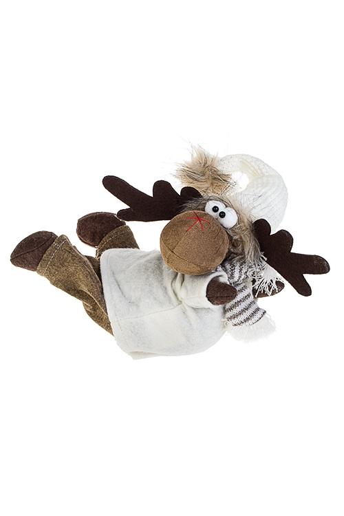 Игрушка мягконабивная ОленьПлюшевые игрушки<br>23*17*25см, текстиль, бело-коричн.<br>