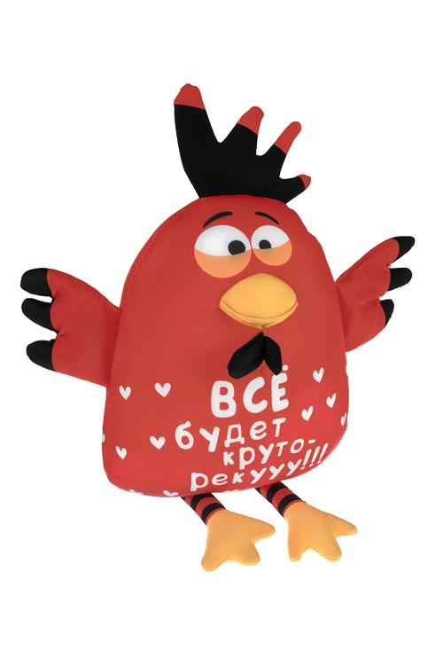 Игрушка мягконабивная Веселый цыпленокИгрушки и куклы<br>Выс=27см, текстиль, красная<br>