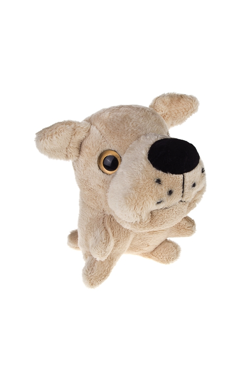Игрушка мягкая СобачкаИгрушки и куклы<br>Выс=12см, текстиль, крем.<br>