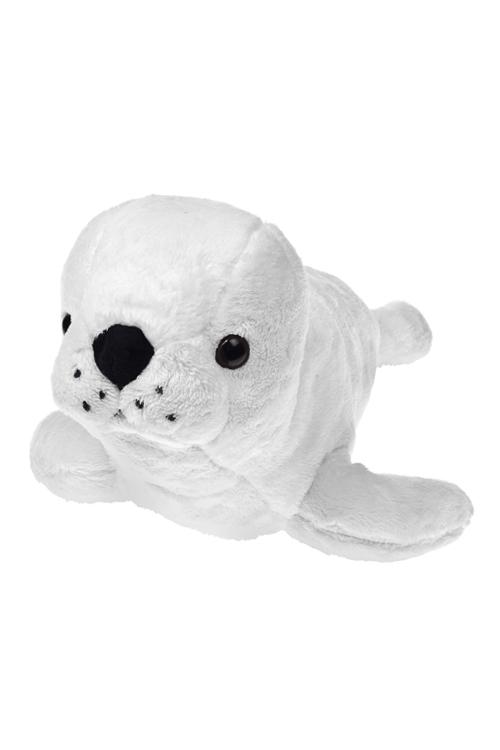 Игрушка мягкая Морской котикПодарки ко дню рождения<br>Дл=35см, текстиль, белая<br>