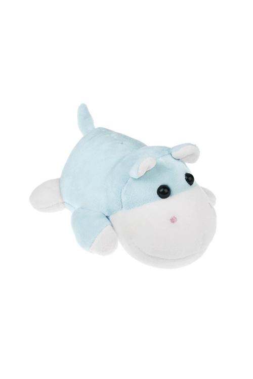 Игрушка мягконабивная БегемотикПодарки ко дню рождения<br>12*16см, лайкра, бело-голуб.<br>