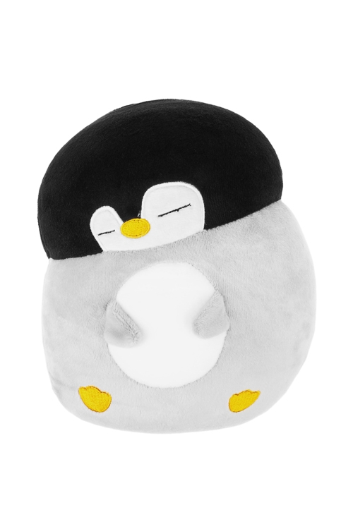 Игрушка мягконабивная Спящий пингвиненокИгрушки и куклы<br>15*20см, лайкра, серо-черная<br>