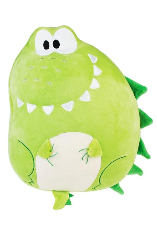 Игрушка мягконабивная Веселый крокодилПлюшевые игрушки<br>32*44см, лайкра, зеленая<br>