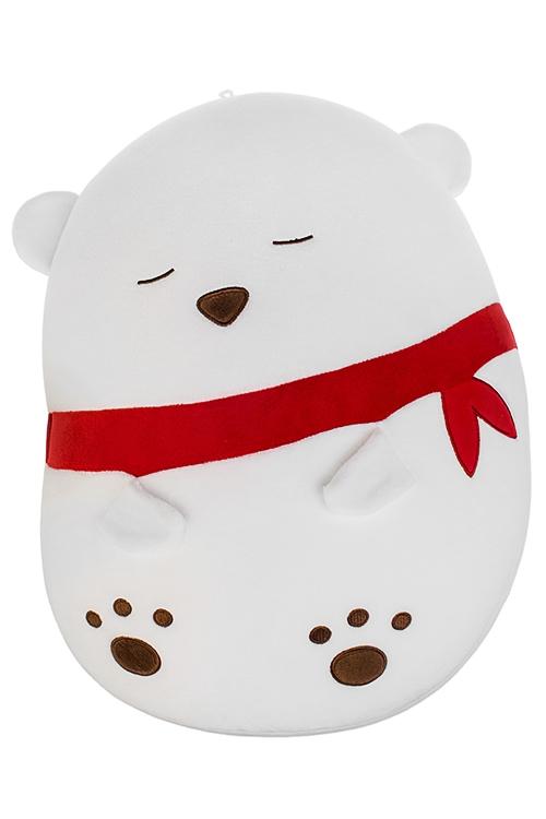 Игрушка мягконабивная Спящий мишкаПлюшевые игрушки<br>30*37см, лайкра, белая<br>