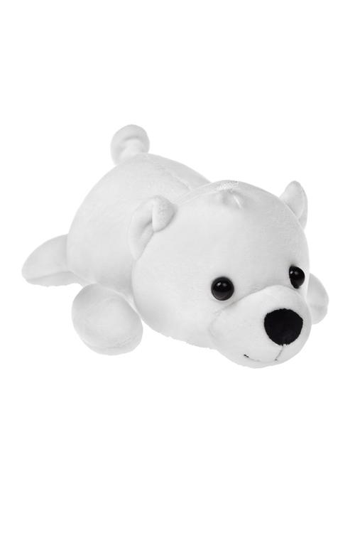 Игрушка мягконабивная Полярный мишкаТекстильные игрушки<br>Дл=30см, лайкра, белая<br>
