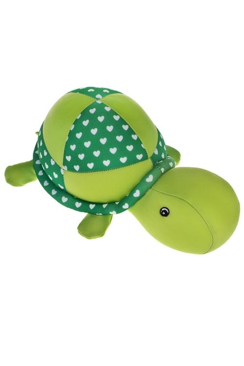 Игрушка мягконабивная Черепашка с сердечкамиИгрушки и куклы<br>27*15см, лайкра, зеленая<br>