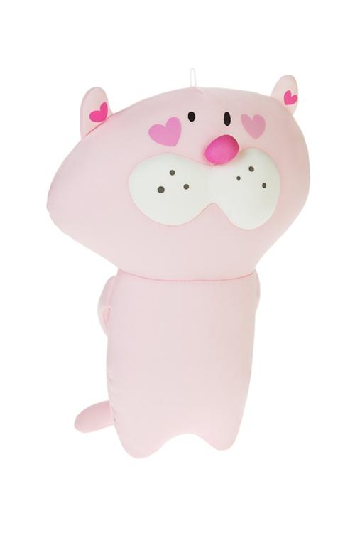 Игрушка мягконабивная Котик с конвертомПодарки на 8 марта<br>Выс=30см, лайкра, розовая<br>