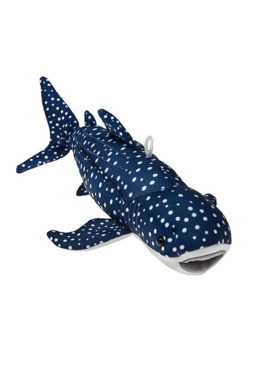 Игрушка мягконабивная АкулаТекстильные игрушки<br>Дл=30см, лайкра, бело-синяя<br>