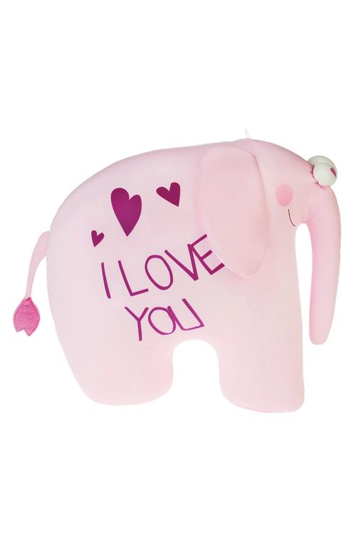 Игрушка мягконабивная Большая любовьПодарки на день рождения<br>32*40см, лайкра, розовая<br>