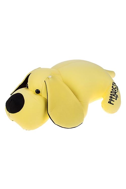 Игрушка мягконабивная ТаксаИгрушки и куклы<br>34*35см, лайкра, желтая<br>