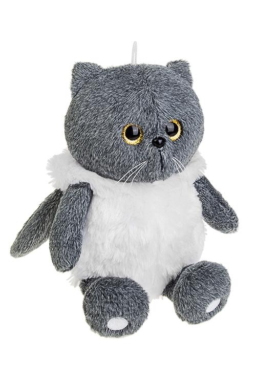 Игрушка мягконабивная КотопесИгрушки и куклы<br>20*20см, текстиль, серо-белая<br>