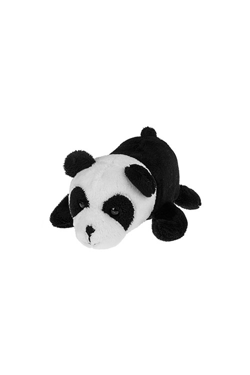 Держатель-магнит Милая пандаМагниты<br>Выс=13см, текстиль, черно-белый<br>