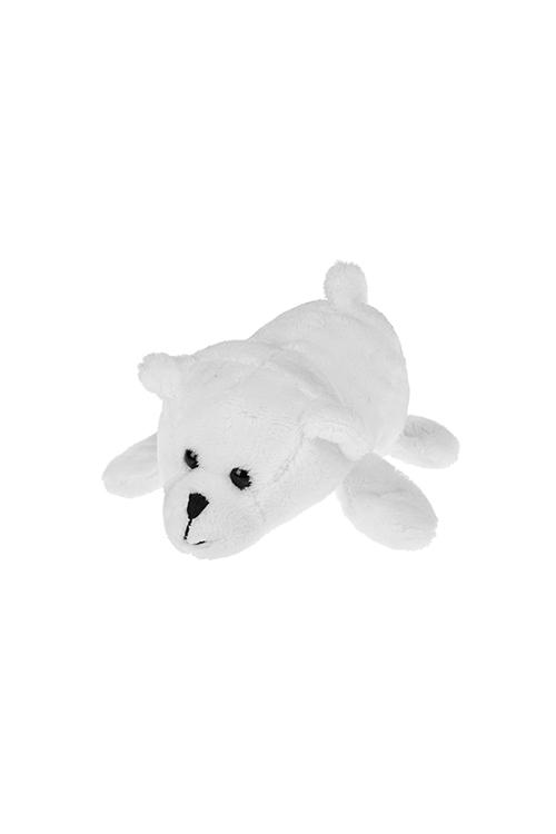 Держатель-магнит Белый мишкаМагниты<br>Выс=13см, текстиль, белый<br>