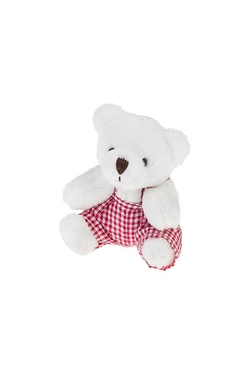 Игрушка мягкая Мишка-малышкаИгрушки и куклы<br>Выс=8см, текстиль, бело-красная (2 вида)<br>