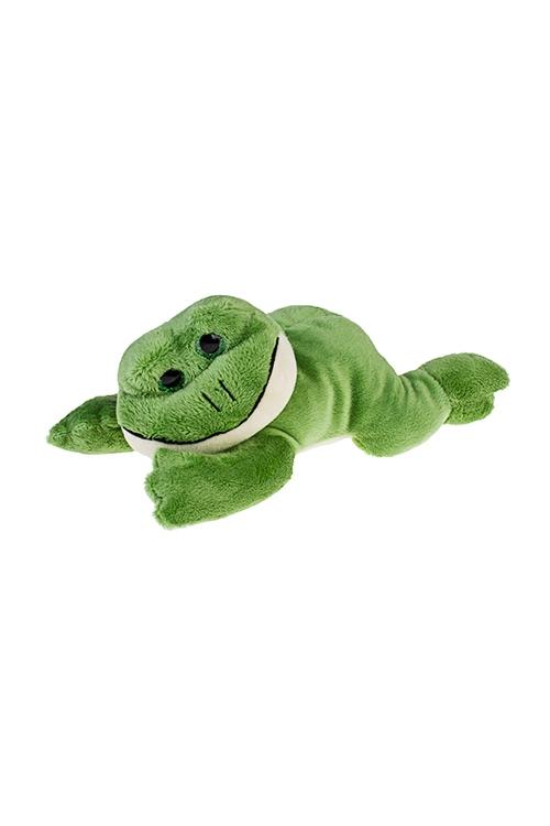 Игрушка мягкая Мечтающий лягушонокПлюшевые игрушки<br>Дл=22см, текстиль, зеленая<br>