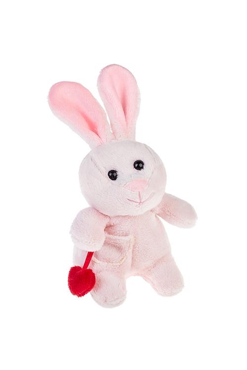 Игрушка мягкая Влюбленный зайкаПлюшевые игрушки<br>Выс=14см, текстиль, розовая<br>