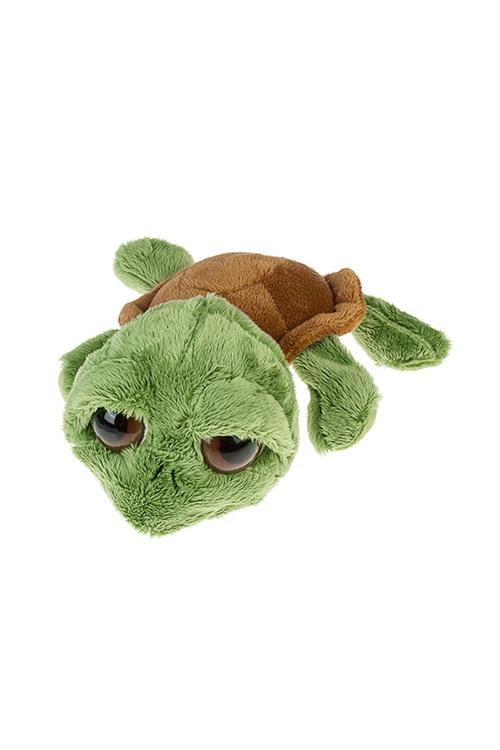 Игрушка мягкая ЧерепашкаИгрушки и куклы<br>Дл=24см, текстиль, зелено-коричн.<br>