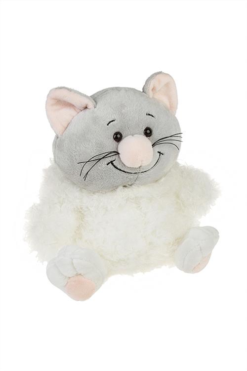 Игрушка мягкая КотозайПлюшевые игрушки<br>30*23см, текстиль, бело-серая<br>
