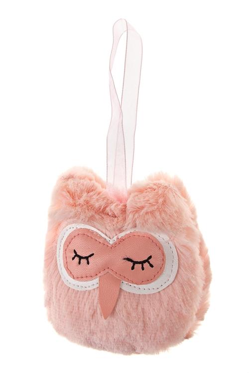 Игрушка мягкая СоваПодарки<br>10*8см, текстиль, розовая, подвесная<br>