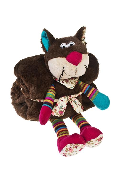 Плед-игрушка Котейка КопейкаПлюшевые игрушки<br>70*100см, текстиль<br>