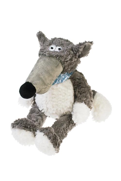 Игрушка мягкая Мальчишка-волчишкаПлюшевые игрушки<br>Выс=37см, текстиль, бело-серая<br>