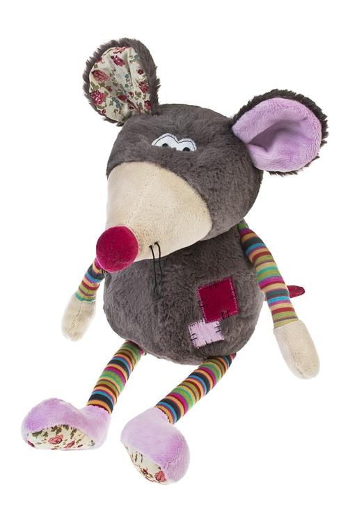 Игрушка мягкая Мышуля-крохотуляИгрушки и куклы<br>Выс=56см, текстиль, серо-сирен.<br>